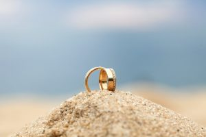 Couple ring on sand