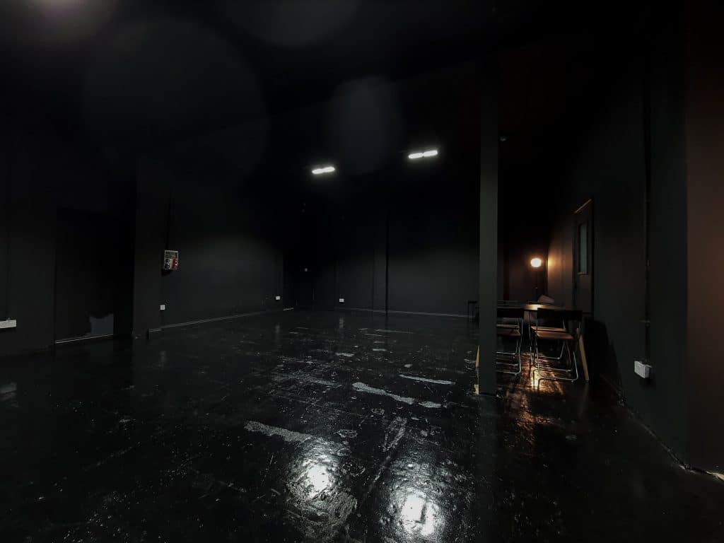 blackout studio for filming